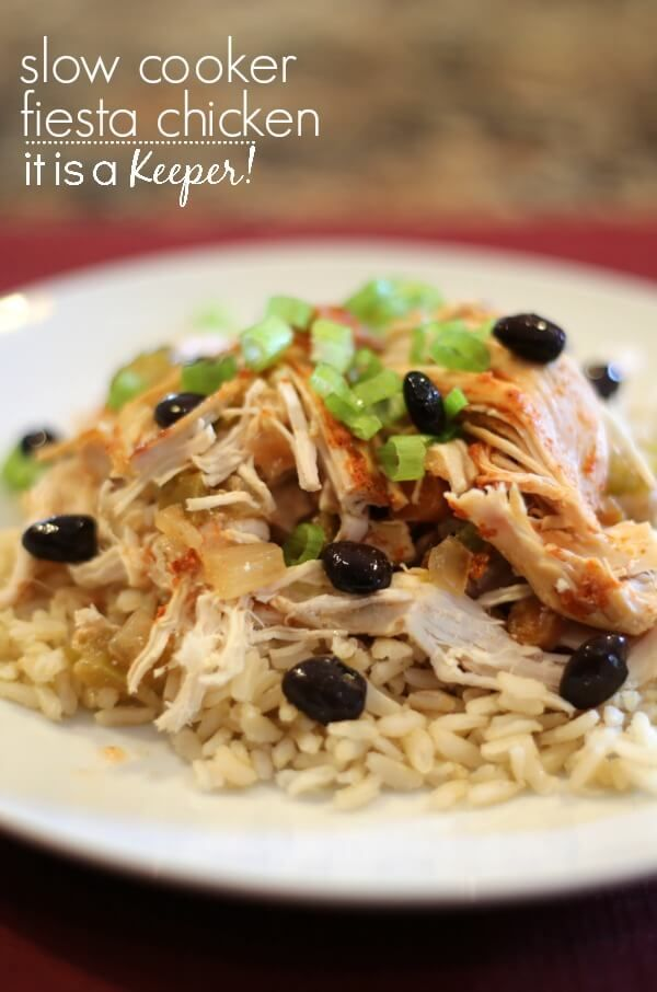 Slow cooker fiesta chicken easy recipes healthy meals for Chicken recipes in crock pot healthy