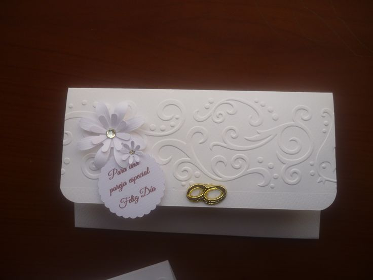 Wedding Gift Envelope Suggestions : Wedding money holder envelope...Sobre para lluvia de sobres matrimonio ...