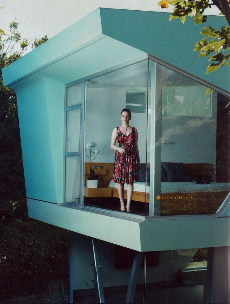 mod: Mid Century Modern, Trees House Bedrooms, Design Room, The Angel, Apartment Design, Blue House, Design Home, Design Studios, Corner Window