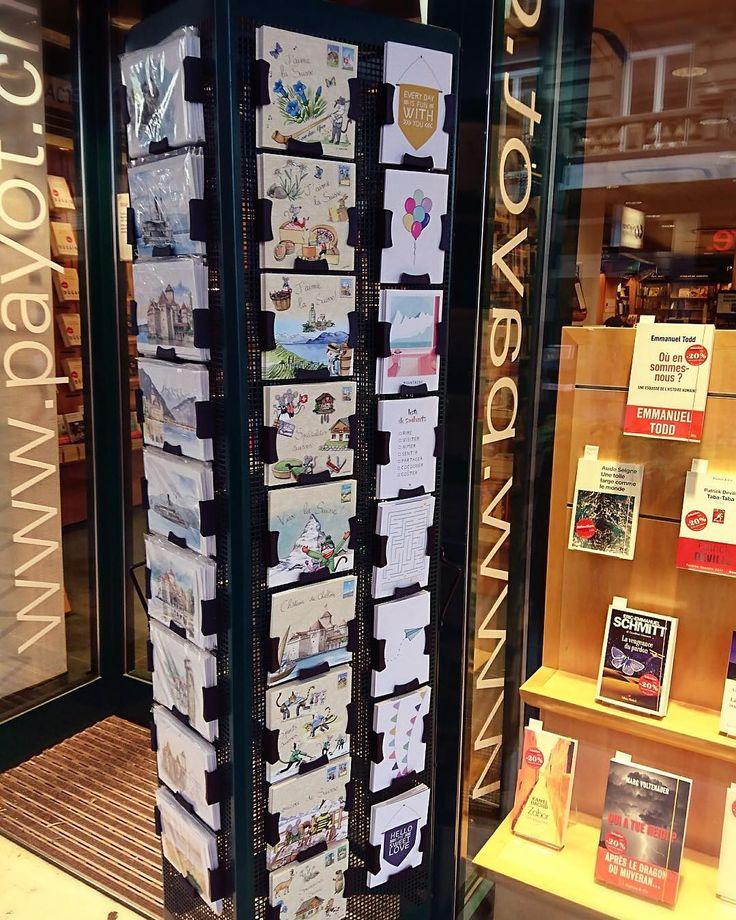 Chez notre distributeur Librairie Payot à Montreux, 2017.