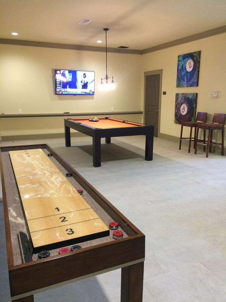 Come play Shuffle Board and Pool while you watch the game