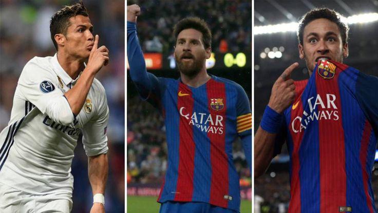 Cristiano Ronaldo, Leo Messi y Neymar son los tres candidatos para ser nombrados el mejor jugador del año 2017 en el premio FIFA The Best.