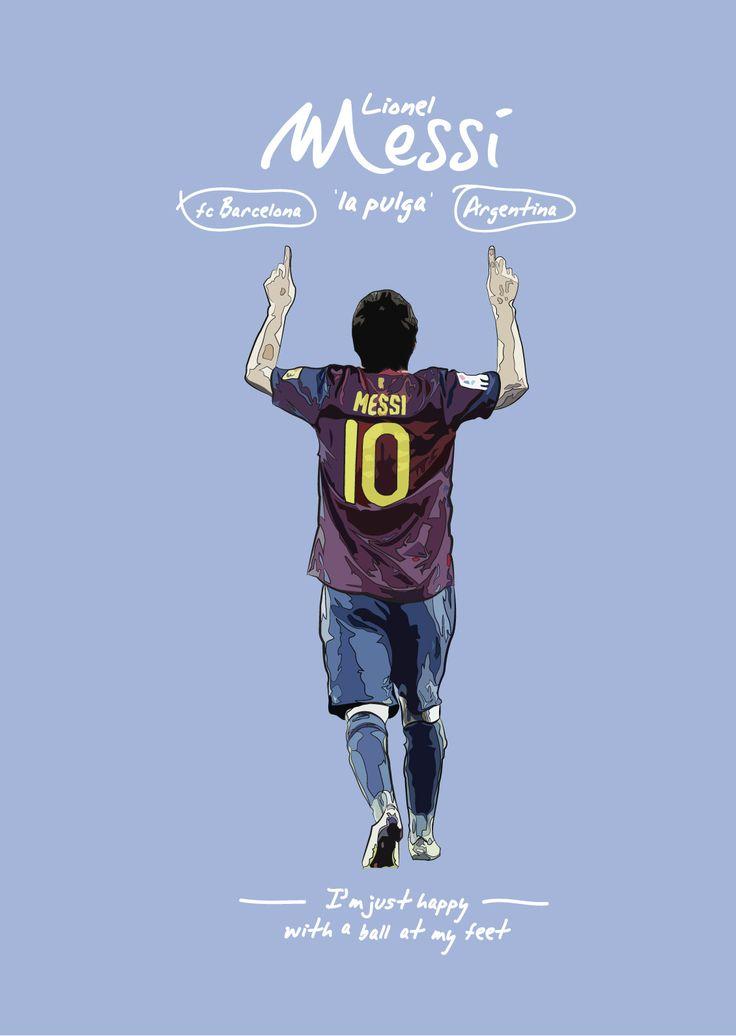 Illustration of Lionel Messi of FC Barcelona