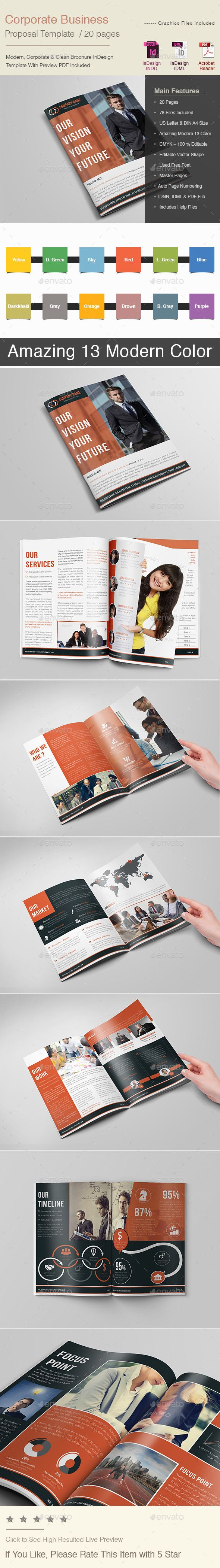 Corporate Business Proposal Template 519 best Proposal