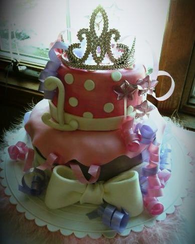 cheap plastic tiara on bday cake