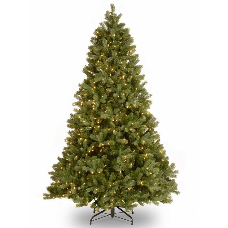 7-ft. Pre-Lit ''Feel Real'' Downswept Douglas Fir Artificial Christmas Tree, Dark Green