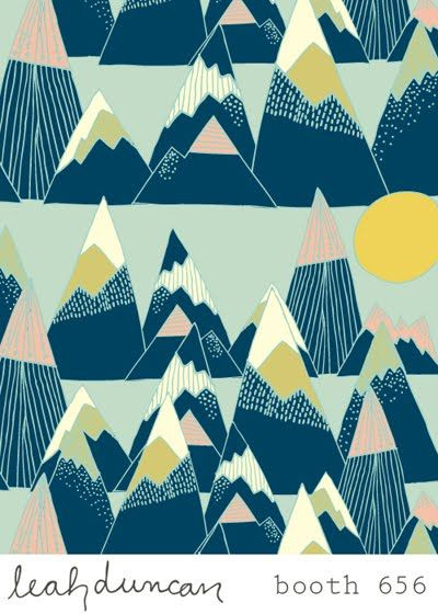 print & pattern: SURTEX 2011 - leah duncan Japanese mountains of creativity