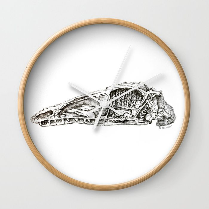 Coelophysis skull Wall Clock JESS!CA BERTOLACCI