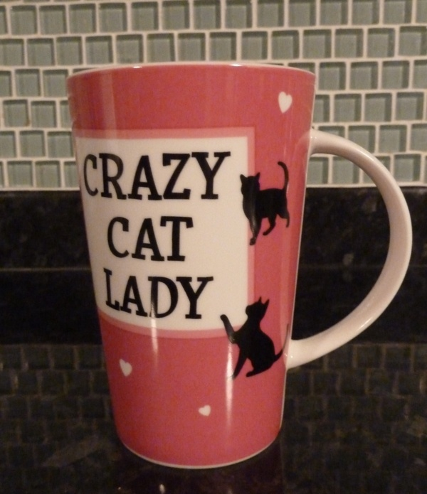 My new cat mug from Cats Protection UK. £4.99