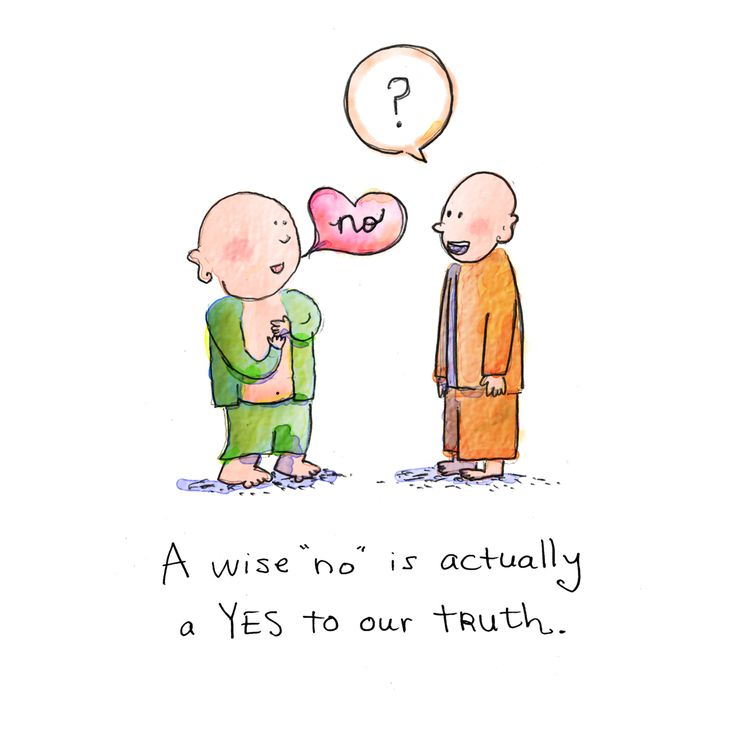 "{Today's Buddha Doodle} How to Say No - A wise ""no"" is actually a Yes to our truth."