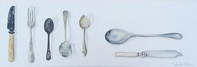 Forgotten Silver  610mm x 200mm  Oil on canvas.