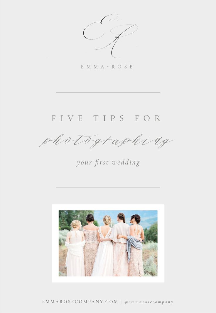 5 Tips for Photographing Your First Wedding | Tips for Photographers_1.jpg
