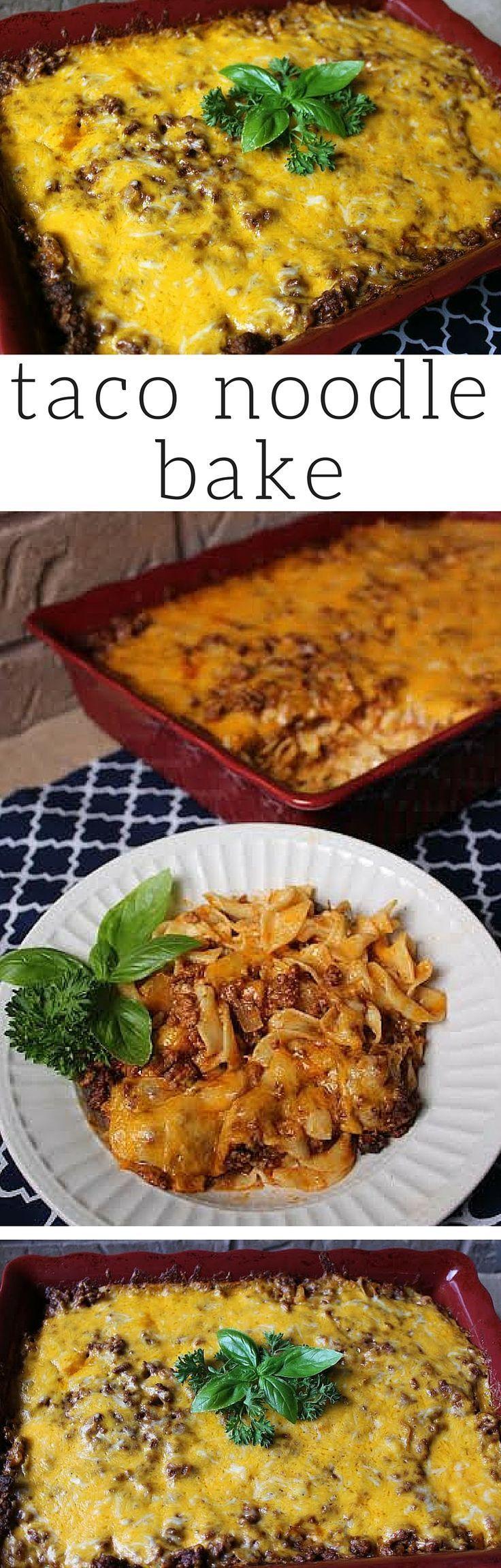 Taco Noodle Bake #easydinner #dinnerrecipe #whatsfordinner #casserole