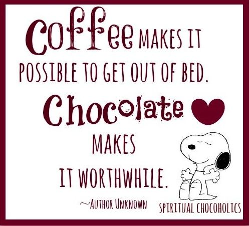 Coffee and chocolate quote via www.Facebook.com/SpiritualChocoholics