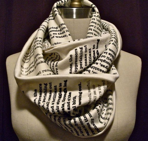 Wrap your book geekery around your neck with this Tale of Two Cities scarf. (Fair warning: Prepare to have your neck ogled.)