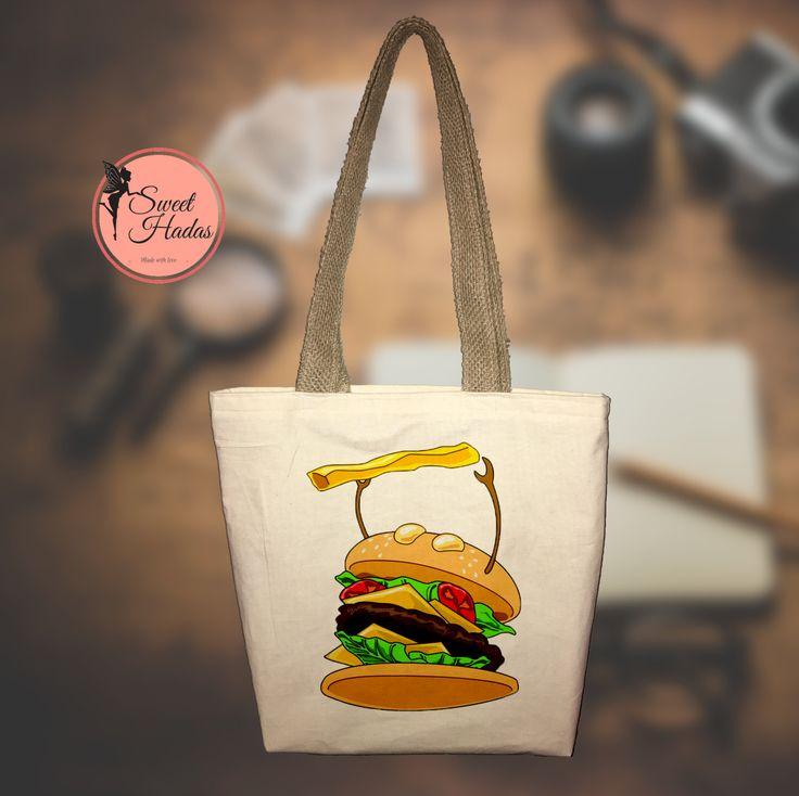 Ecofriendly Regalo de navidad, Bruger Tote Bag, reciclaje, personalizada, despedida de soltera, Tipografía, Bolsa de marcado, comida. de SweetHadas en Etsy