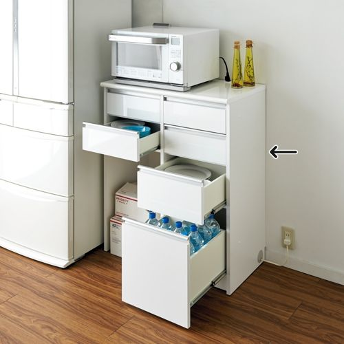 ごみ箱収納スペース付き 下オープンキッチンハイカウンター 幅83cm ...