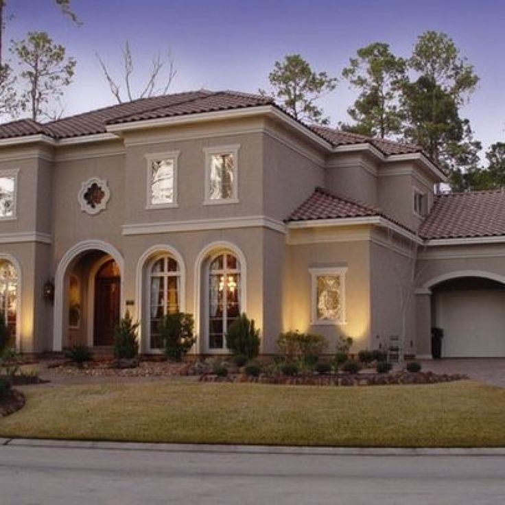 Exterior house colors for stucco homes 1000 ideas about - Cost to paint house exterior trim ...