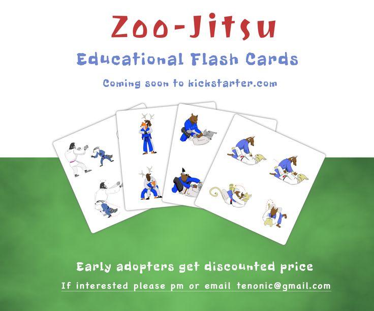 Zoo-Jitsu Brazilian Jiu Jitsu educational flash cards are coming to www.kickstarter.com soon! #BJJ