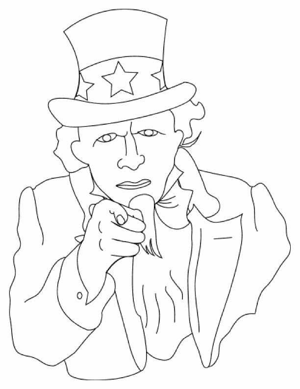 Uncle Sam Coloring Page Elegant Everything Preschool Coloring Page