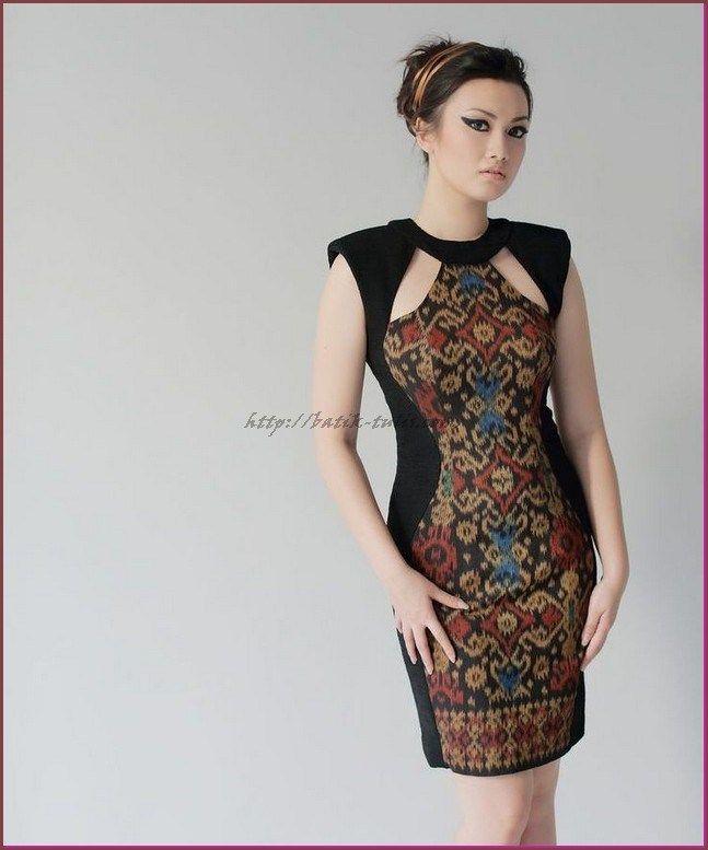 model baju batik kombinasi terbaru