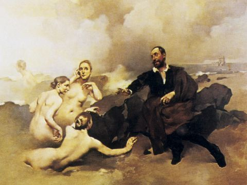 Columbano Bordalo Pinheiro: «Camões e as Tágides»; 1894