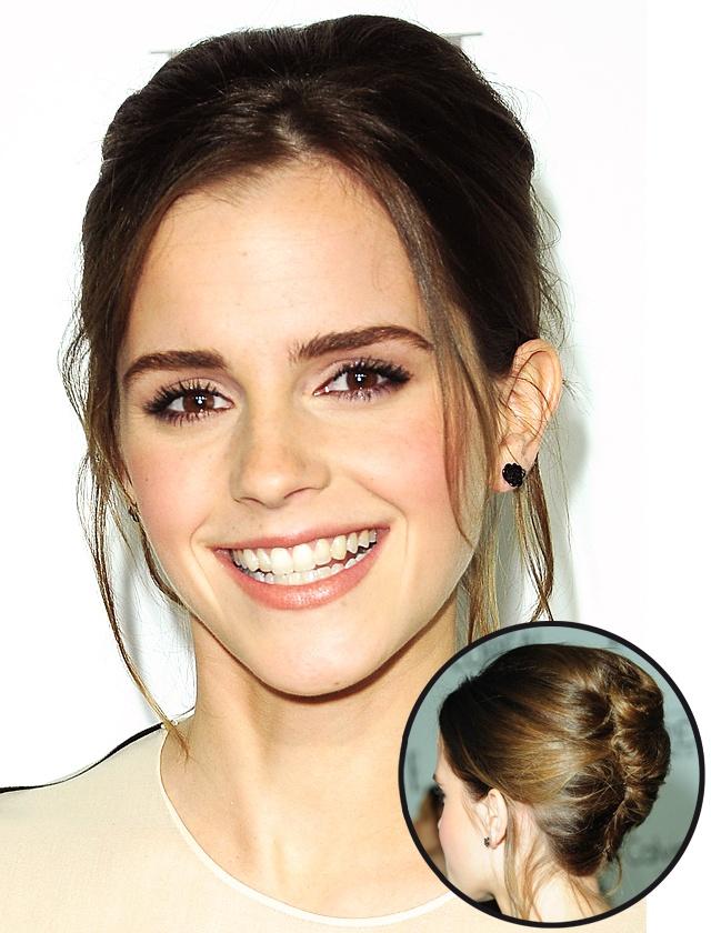 Try a fabulous French twist like Emma Watson