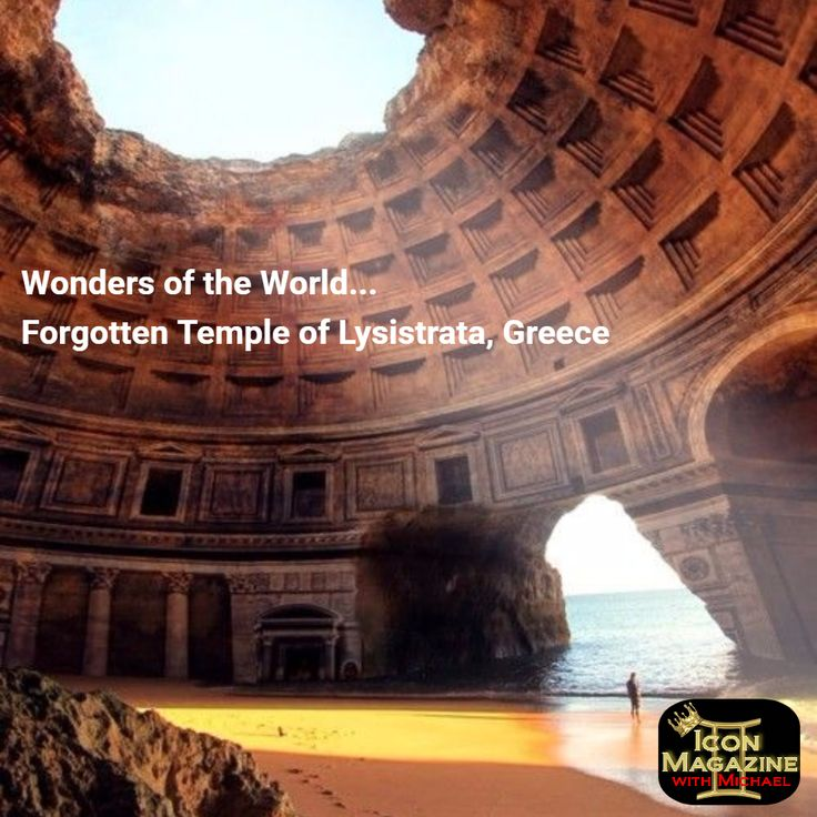 Wonders of the World... Forgotten Temple of Lysistrata, Greece  Be An Icon! www.iconnationwithmichael.com