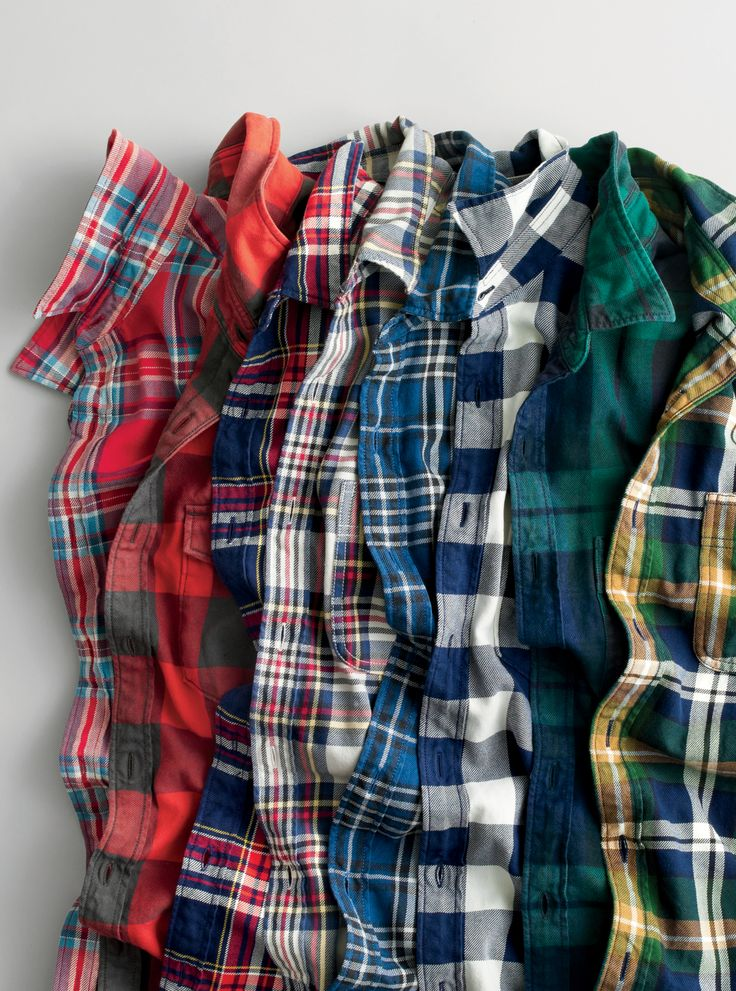 J.Crew men's collectible flannels. We custom-design all of our plaid flannel patterns, and we often don't run the same one twice. So stock up on your favorites now before they're gone forever. To pre-order, call 800 261 7422 or email verypersonalstylist@jcrew.com.