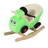 Qaba Kids Plush Rocking Horse Car w/ Nursery Rhyme Sounds