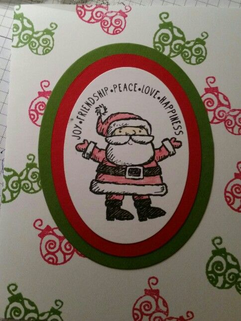 Get your Santa on from Stampin Up
