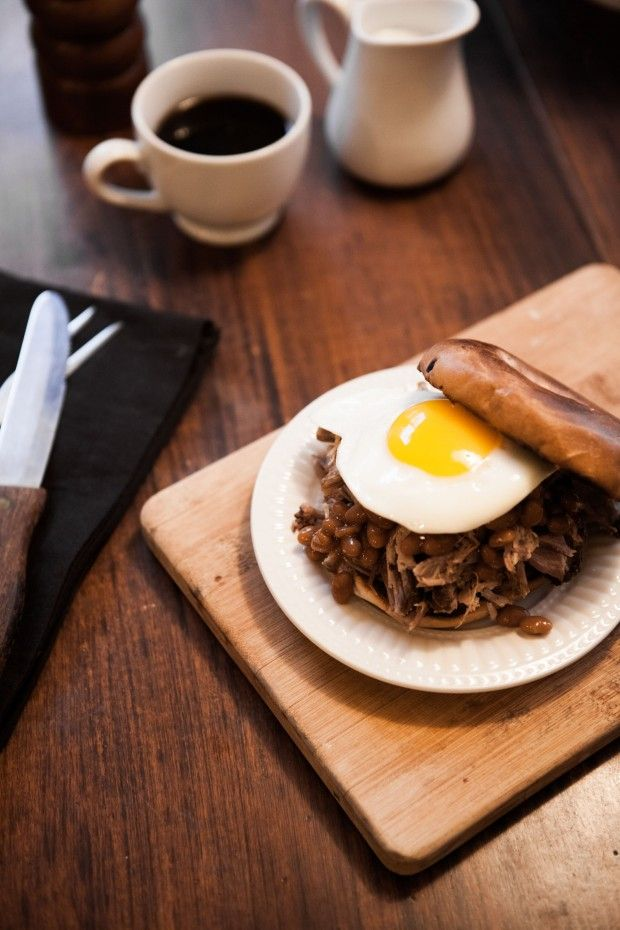 Pulled Pork BBQ Breakfast Sandwich At Chasing Delicious