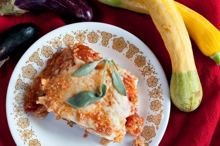 eggplant and summer squash lasagna