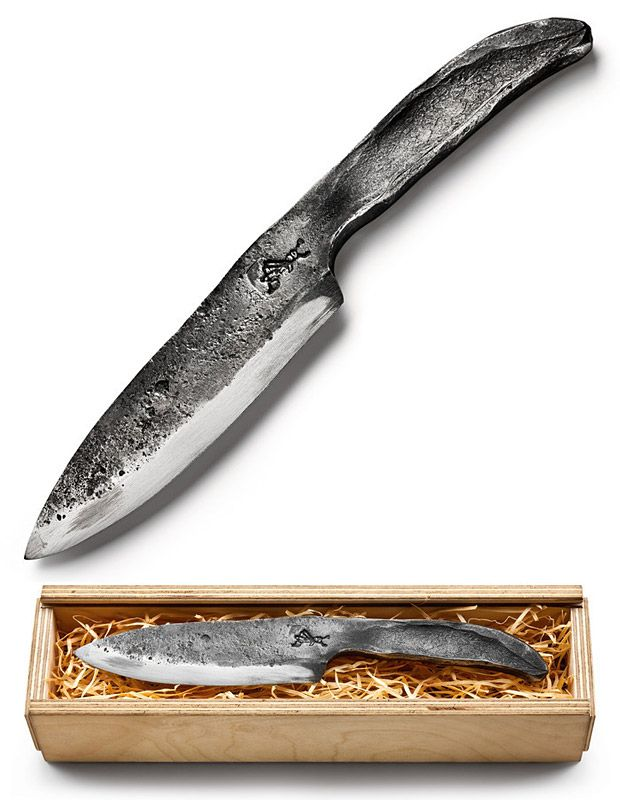 Manufactum Forged Steel Knife This Hand Forged German Kitchen Knife Looks Like It Survived A
