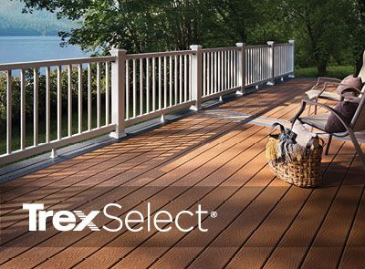 Choose to add Trex Select railing to your decking project and estimate the cost using Trex's deck cost calculator.
