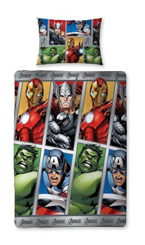 Marvel Avengers 'Team' Reversible Single Duvet Cover With Pillowcase, 2015 Amazon Top Rated Duvet Covers & Sets #Home
