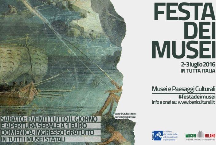 2 e 3 luglio 2016: prima edizione della Festa dei Musei #festadeimusei #roma