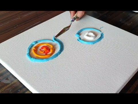 Sun & Moon / Abstract Painting / Very Simple / Fun / Demonstration / Project 365 Days / Day # 0322 – YouTube