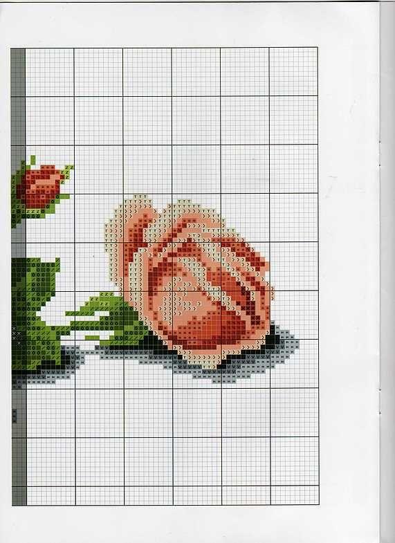 Вышивка / РОЗЫ 2 ВЫШИВКА роза 070-5