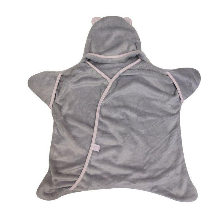 Star Wrap - Grey/Pink - Sleeping Bag - Baby Belle