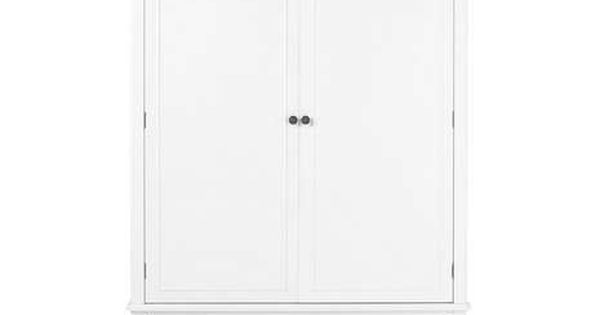 Toulouse White Double Wardrobe | Dunelm | Moving | Pinterest | Wardrobes, Products and Toulouse