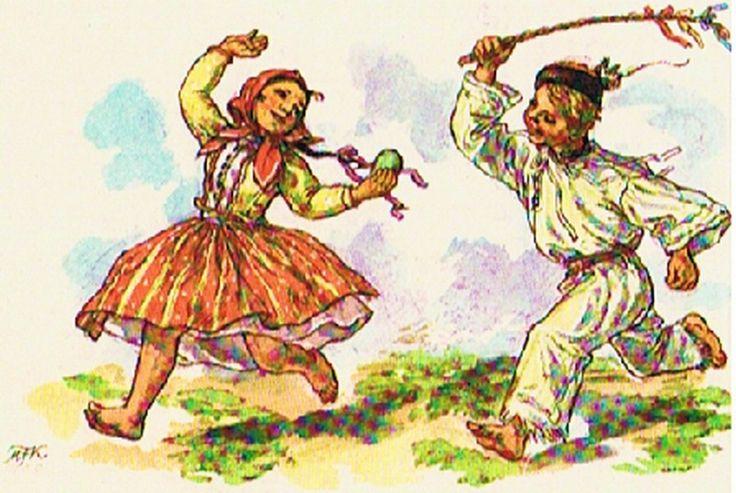 V Česku je prastarou tradicí hodování a pomlázka. Na Velikonoční pondělí ráno muži a chlapci chodí po domácnostech svých známých a šlehají ženy a dívky ručně vyrobenou pomlázkou z vrbového proutí.