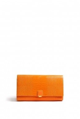 Stamped Leather Travel Clutch by Smythson