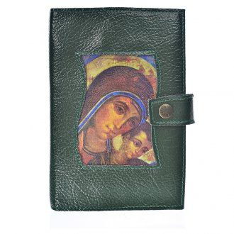 Funda Biblia Jerusalén Nueva Ed. Kiko Virgen s. cuero verde