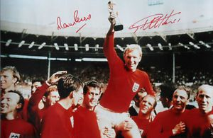 1966 World Cup signed Sir Geoff Hurst & Martin Peters. . http://www.champions-league.today/1966-world-cup-signed-sir-geoff-hurst-martin-peters/.  #1966 World Cup #Geoff Hurst #Martin Peters