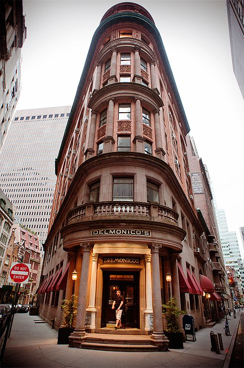 DELMONICOS, NYC. Classic, old restaurant in the Financial District.