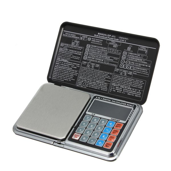 Sale 27% (15.27$) - 500g x 0.01g Multi-functional Jewelry Pocket Digital Scale Grams