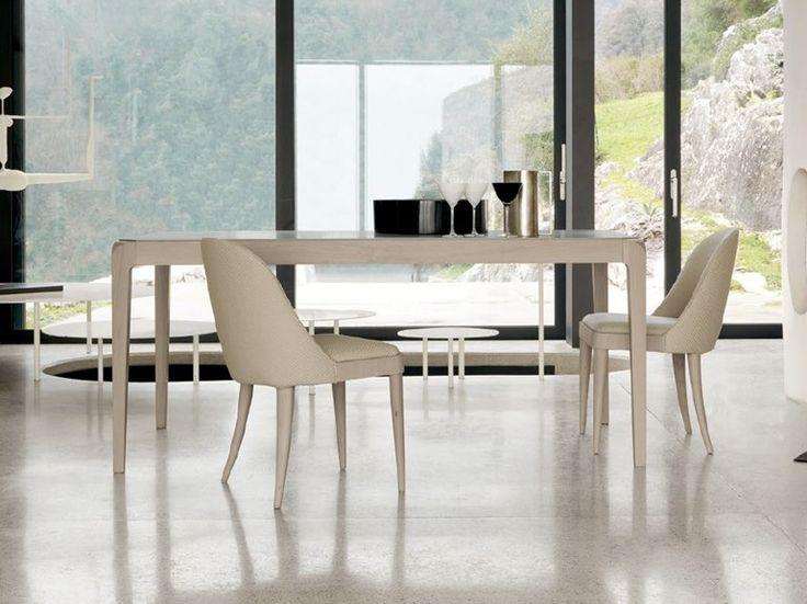 Rectangular wooden table B-675 by Dale Italia   design Arbet Design