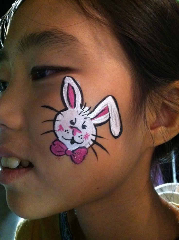 Cute Bunny Face Painting Ideas