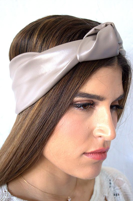 Vegan Leather Headband Turban, $28 www.vibejewels.com